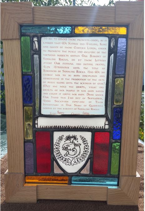 Baronial Stained Glass Scroll 2 by Solskinn