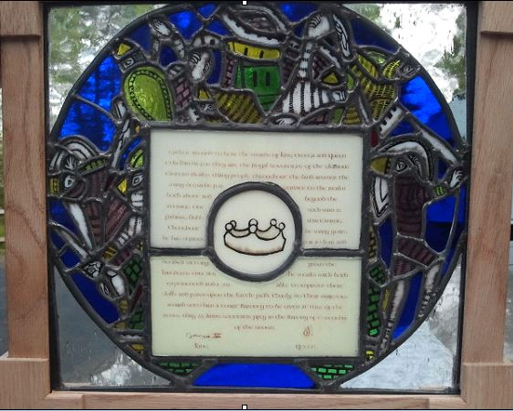 Court Baron Stained Glass Scroll by Solskinn